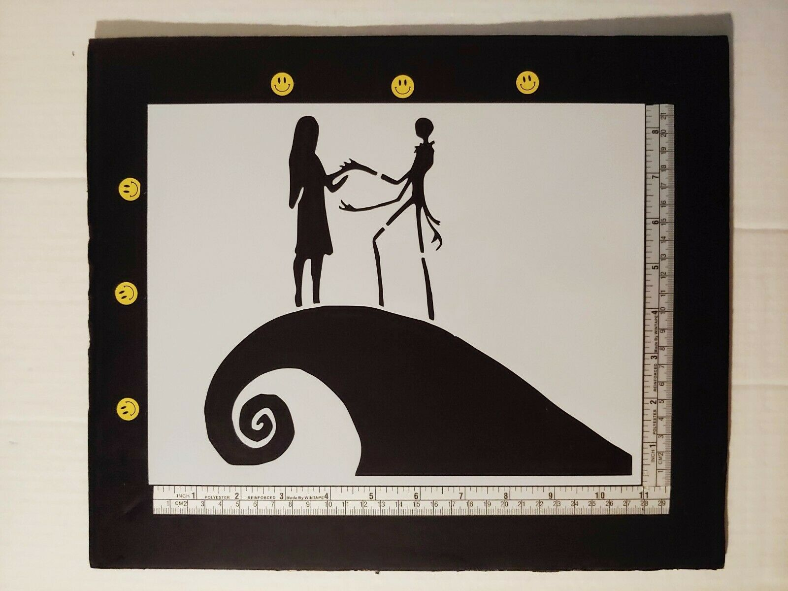 nightmare before christmas 85 x 11 custom stencil fast free shipping 1 of 1only 4 available