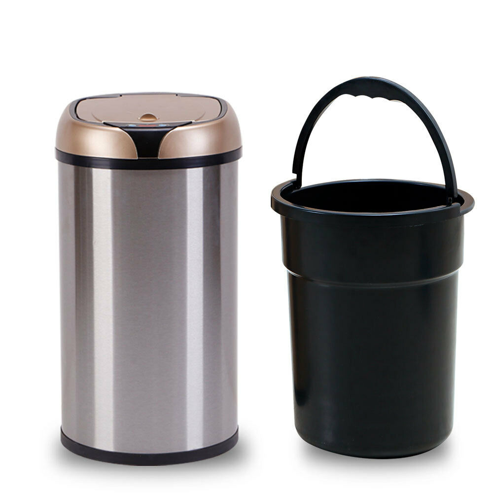 Beautiful Sensor Automatic Stainless Steel Touchless Kitchen Trash Can Recycling Bin  Large