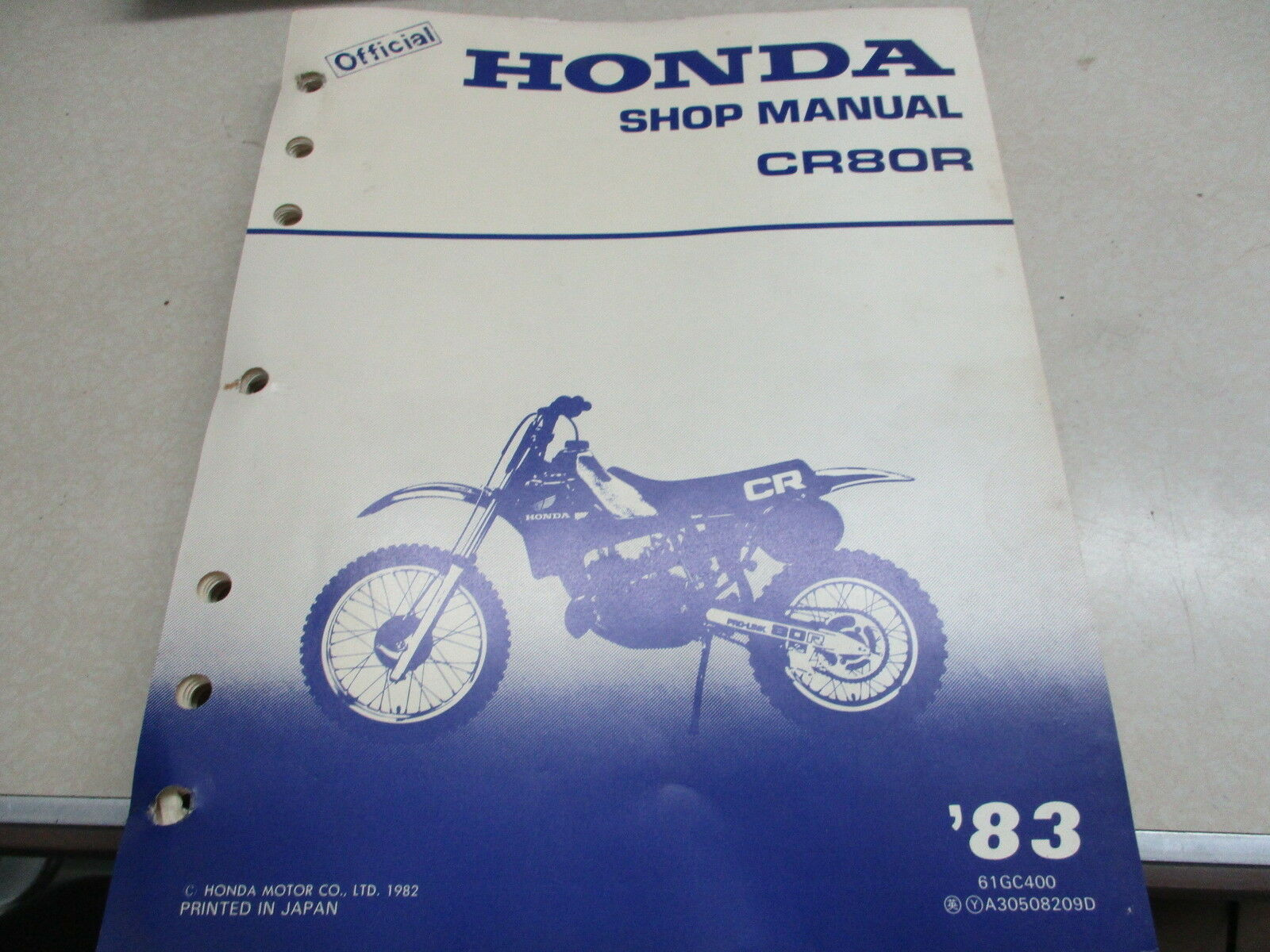 Honda OEM Shop Service Manual 1983 CR80R CR80 CR 80 R 1 of 4Only 2  available See More