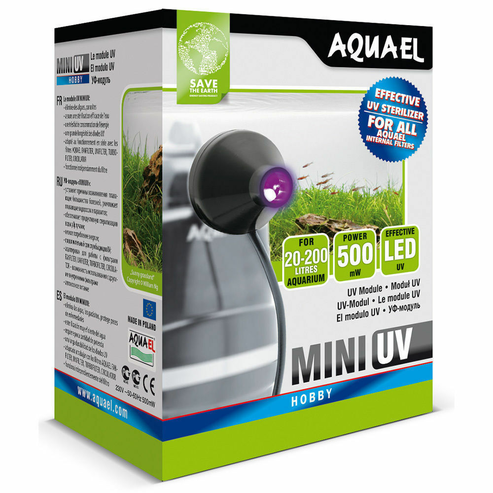 Aquael Mini Uv Sterilizer Filter (Fits Most Filters) Fish Tank Aquarium Internal