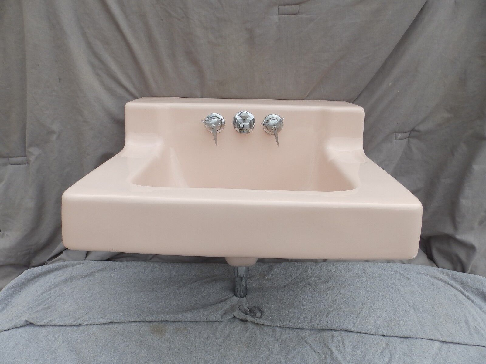 Vtg Ceramic Standard Lite Pink Porcelain Shelf Top Kohler Bathroom Sink 2096-16