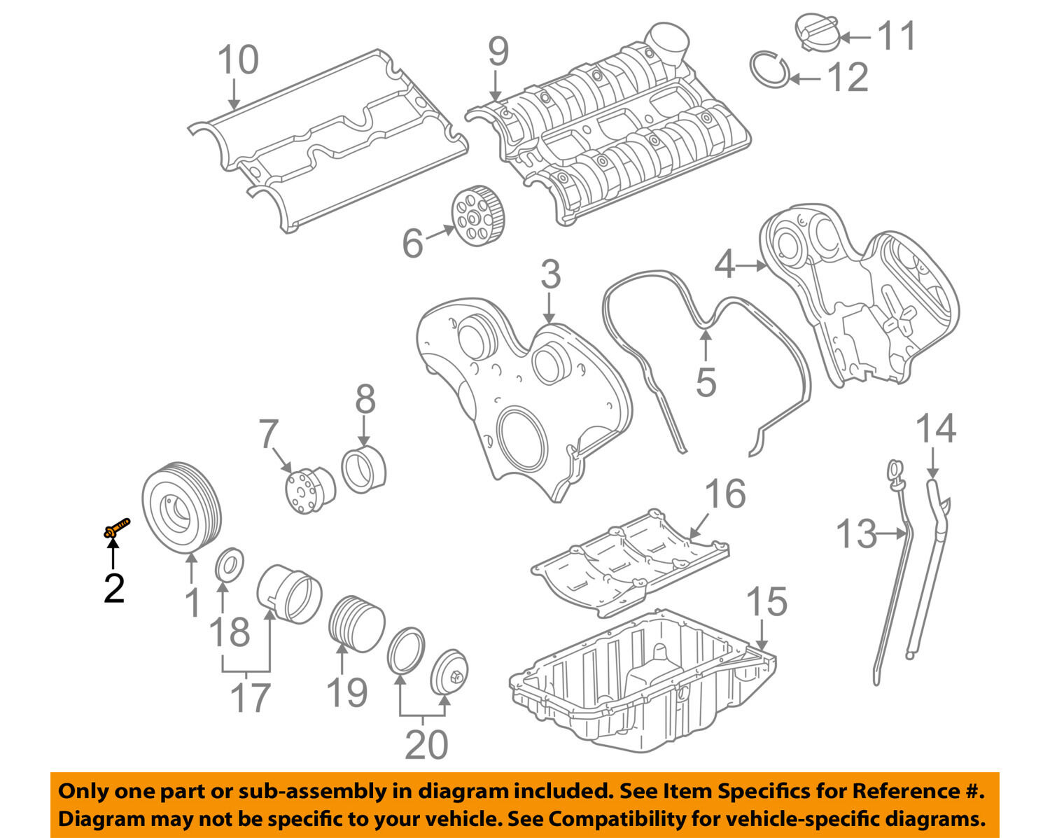 Parts Of A Pulley Diagram Trusted Wiring Diagrams Engine Gm Oem Crankshaft Crank Bolt 11094881 16 02 Harness