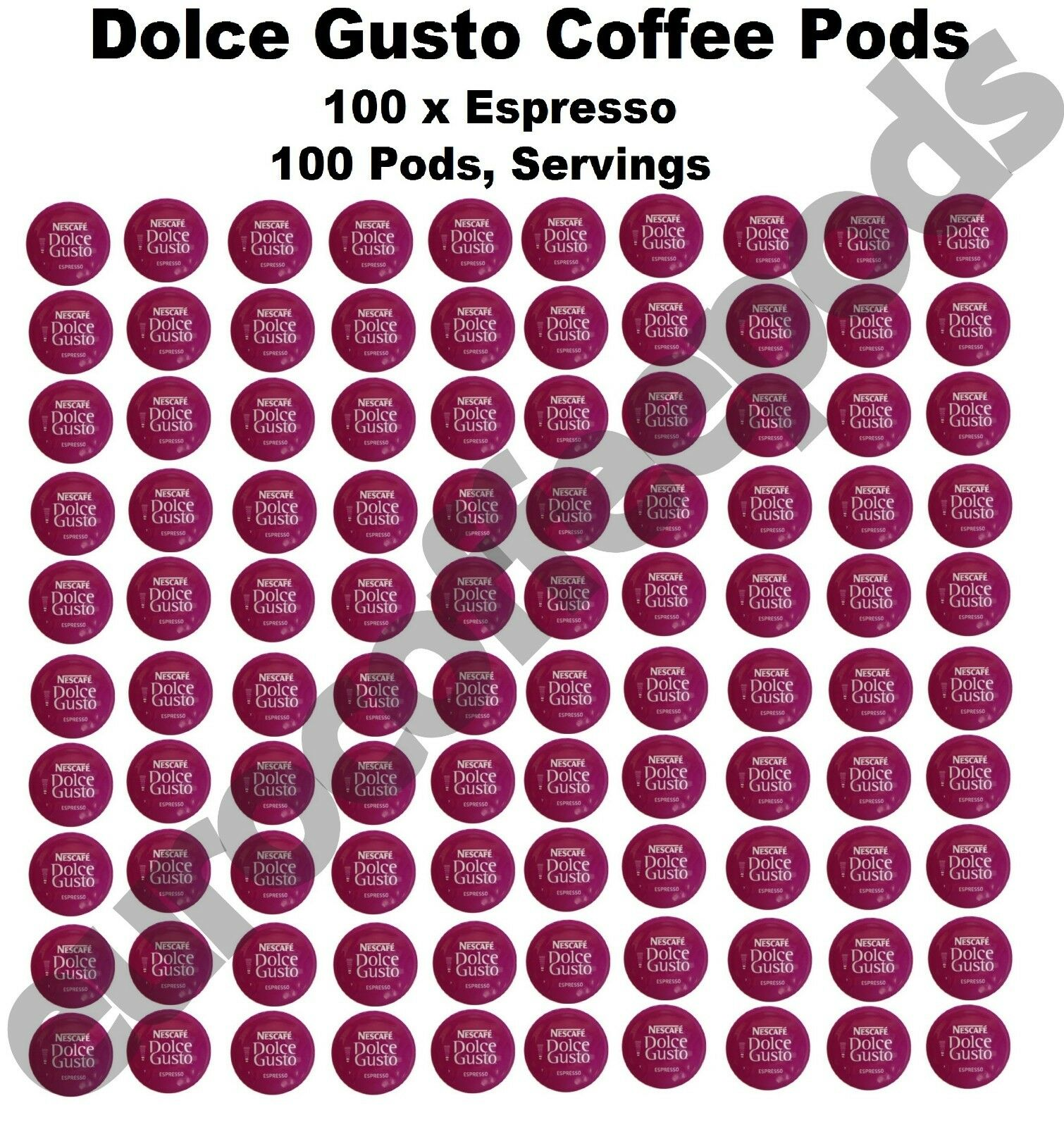 100 x Dolce Gusto Espresso Coffee Pods, Capsules, 100 Drinks Sold Loose