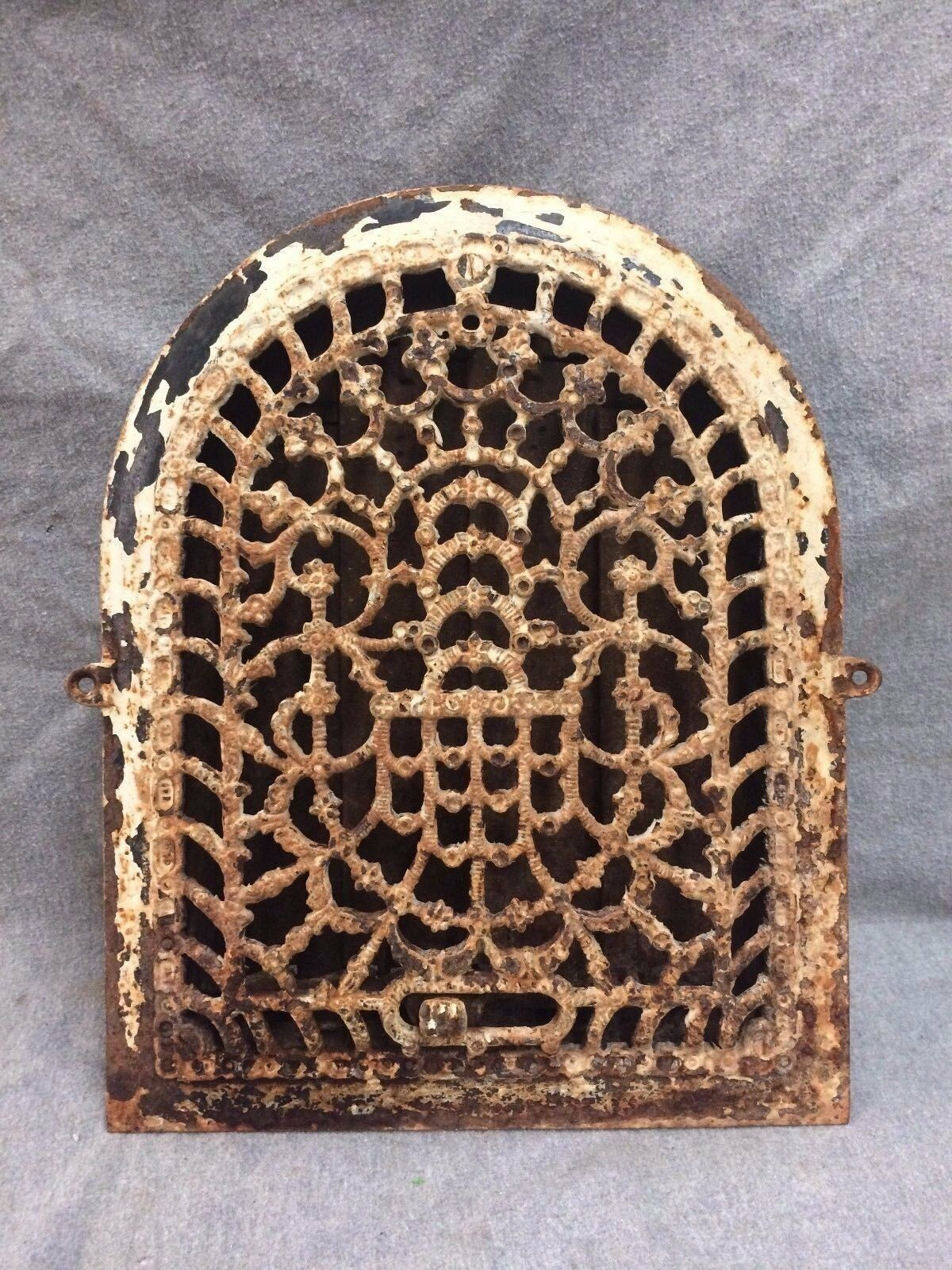Antique Cast Iron Arch Top Dome Heat Grate Wall Register 2141-16