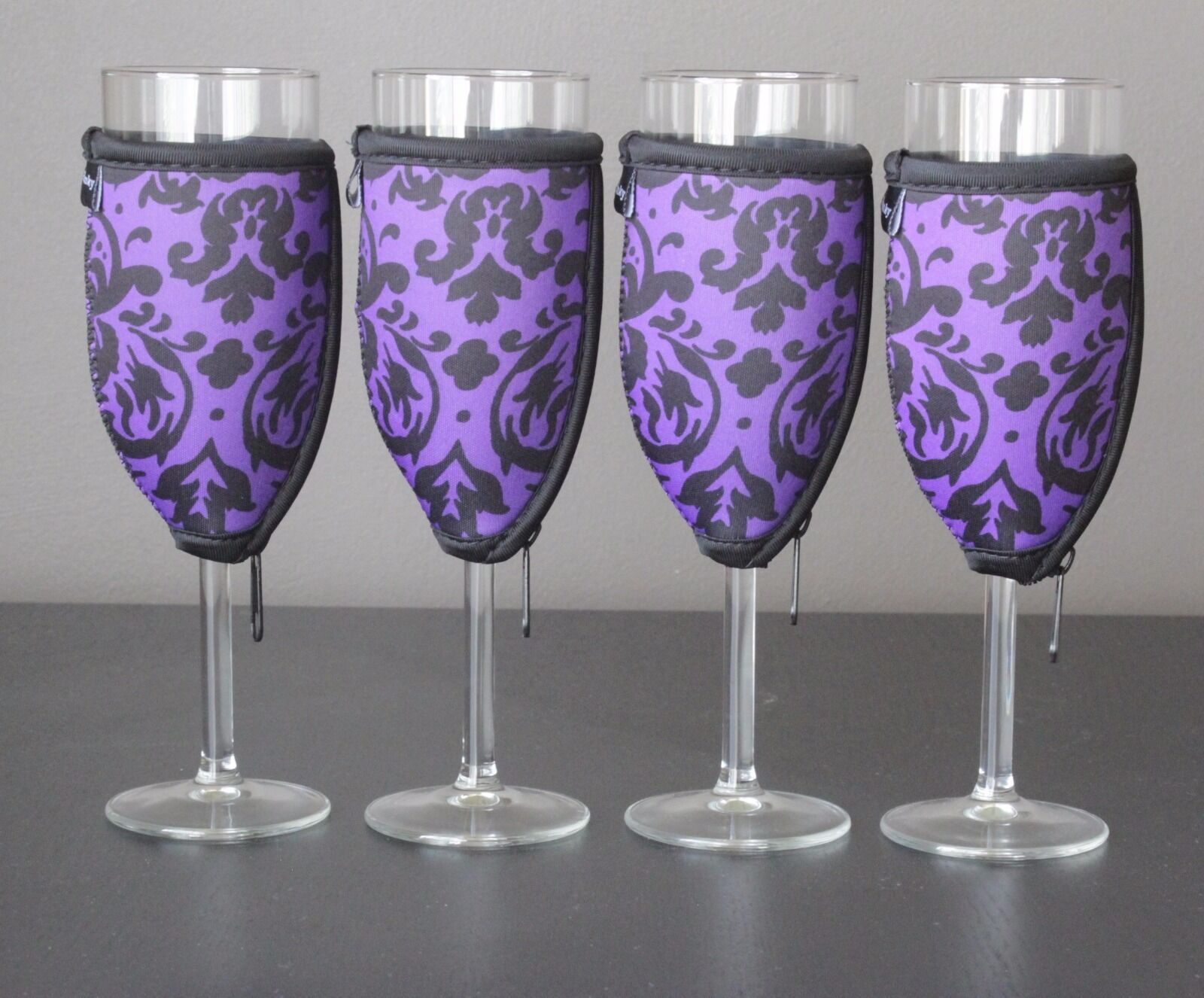 Vintage Purple champagne glass coolers x 4