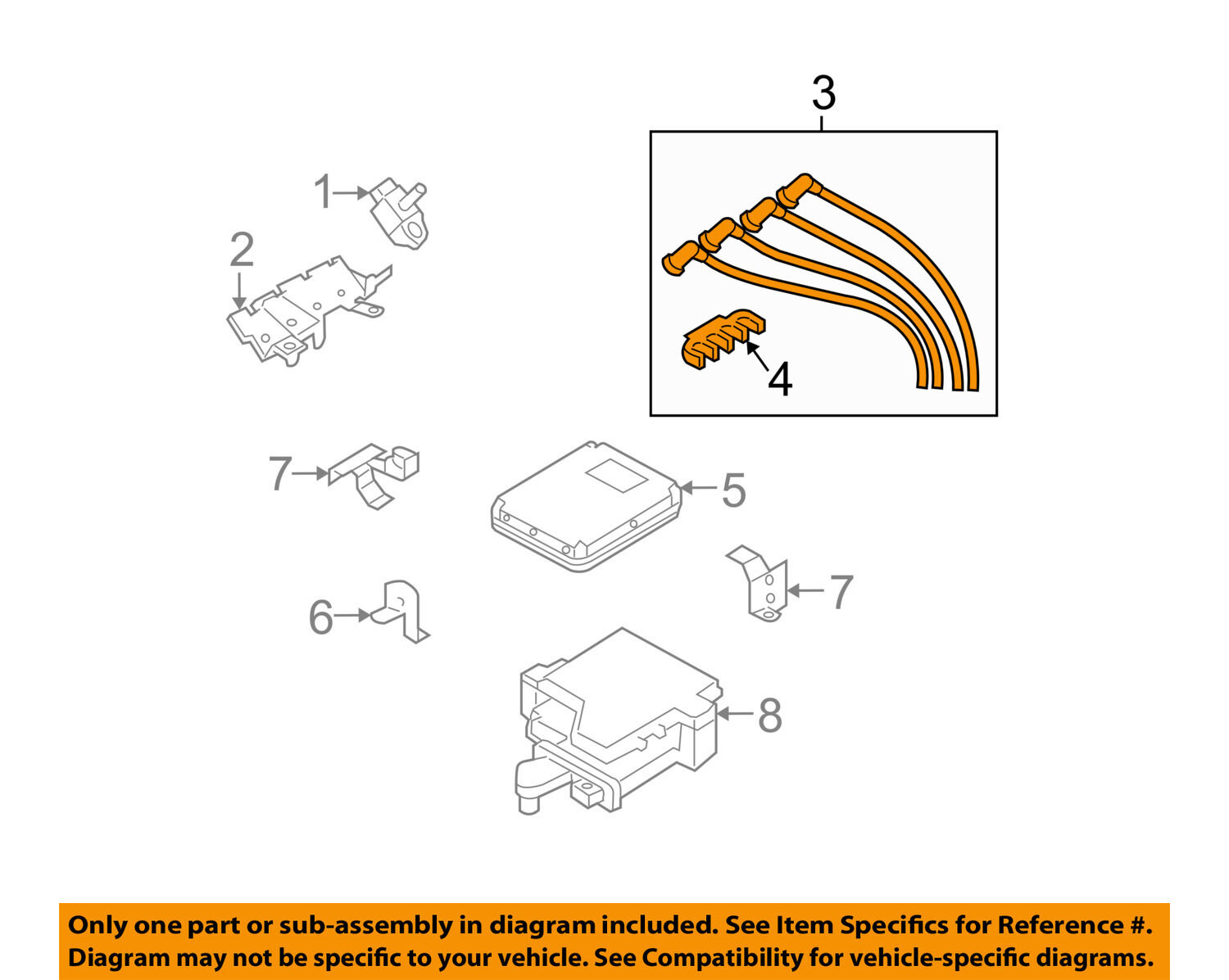 MAZDA OEM 04-08 RX-8 Ignition Spark Plug-Wire OR Set- 1 of 2Only 0  available See More
