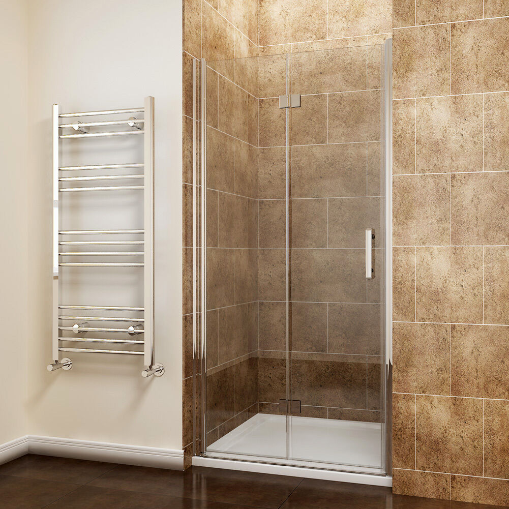 Frameless Hinged Bifold Shower Door Enclosure And Tray Free Waset