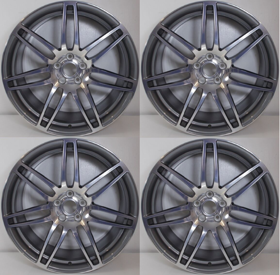 set of four genuine audi tt rs ttrs 20 5x112 7 double spoke alloy wheels x4 eur. Black Bedroom Furniture Sets. Home Design Ideas