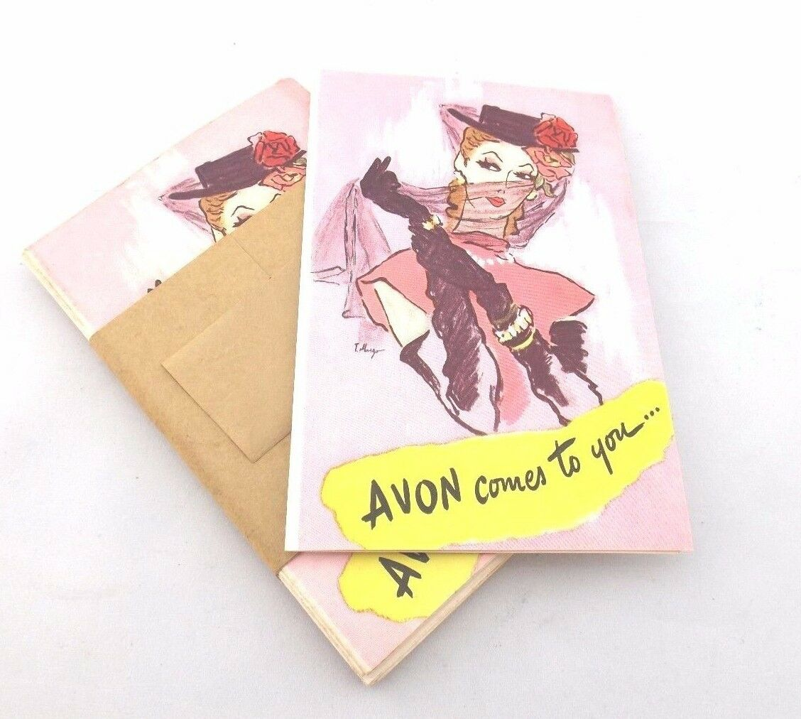 vintage avon promotional sales pamphlets cards price lists 1940s 50s