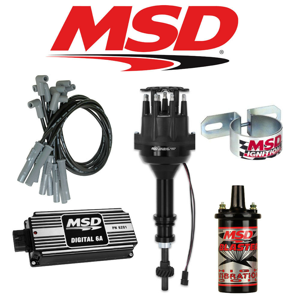 Msd Black Ignition Kit Digital 6a Distributor Wires Coil Ford 289 For A 302 Wiring Harness Kits 1 Of 2only 4 Available