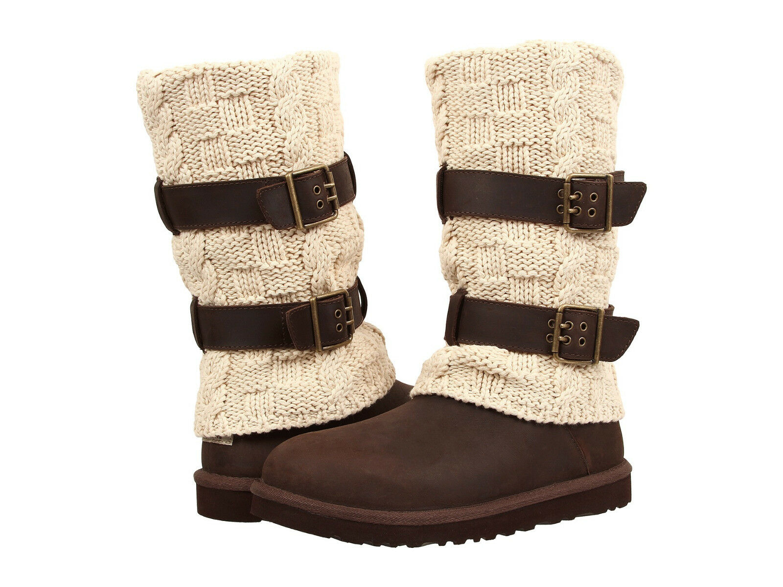 Women UGG Australia Cassidee Tall 1007691 Chocolate Leather 100% Authentic New 1 of 8Only 2 available ...