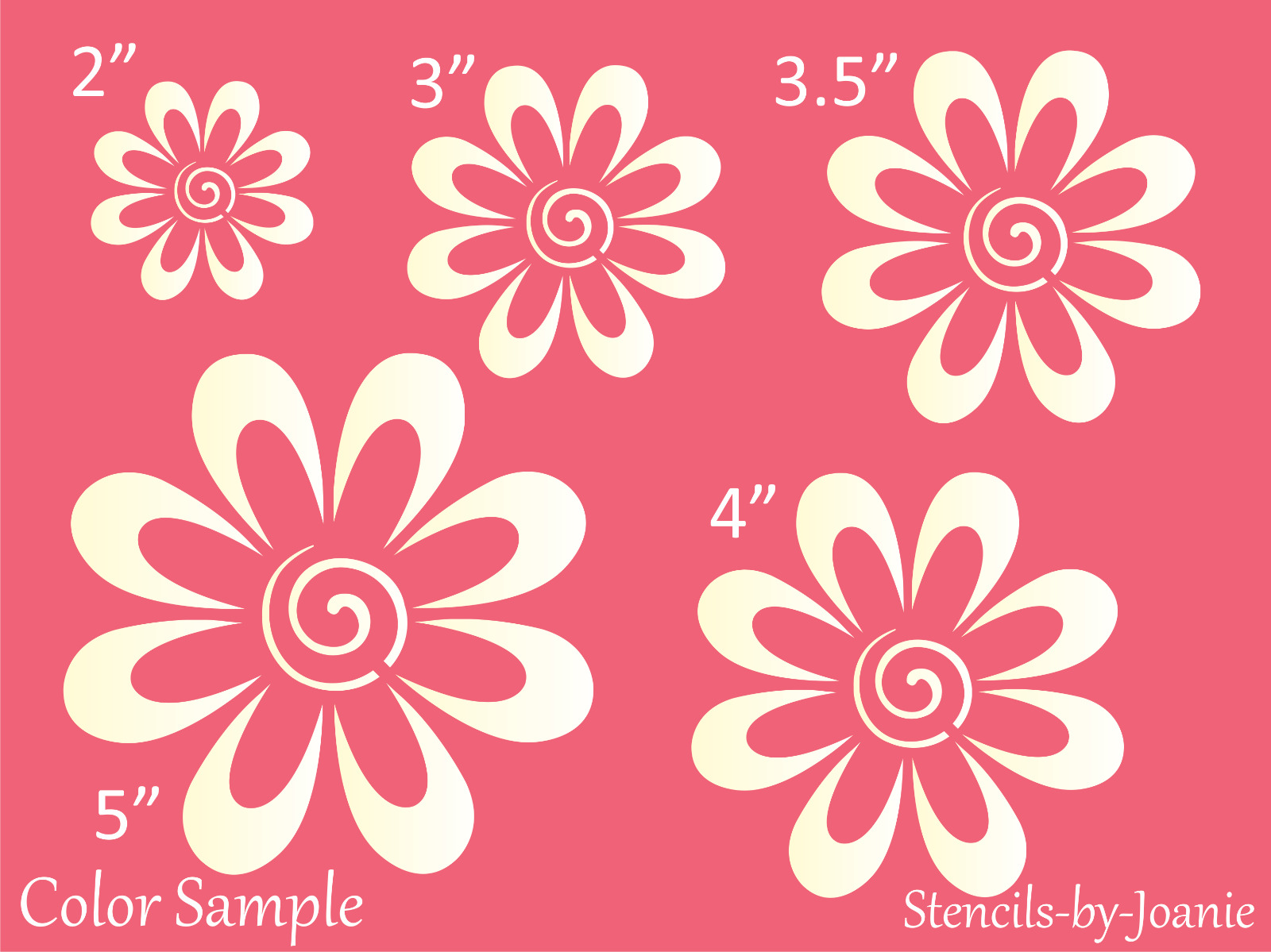 Stencil Garden Flower Swirl Daisy Country French Cottage Easter