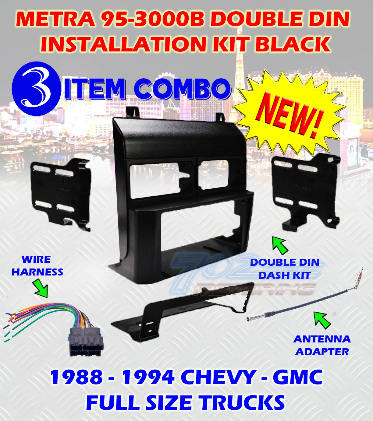 Metra 95 3000b Double Din Dash Kit For Stereo Radio Install Wiring Harness Installation 1 Of 12free Shipping