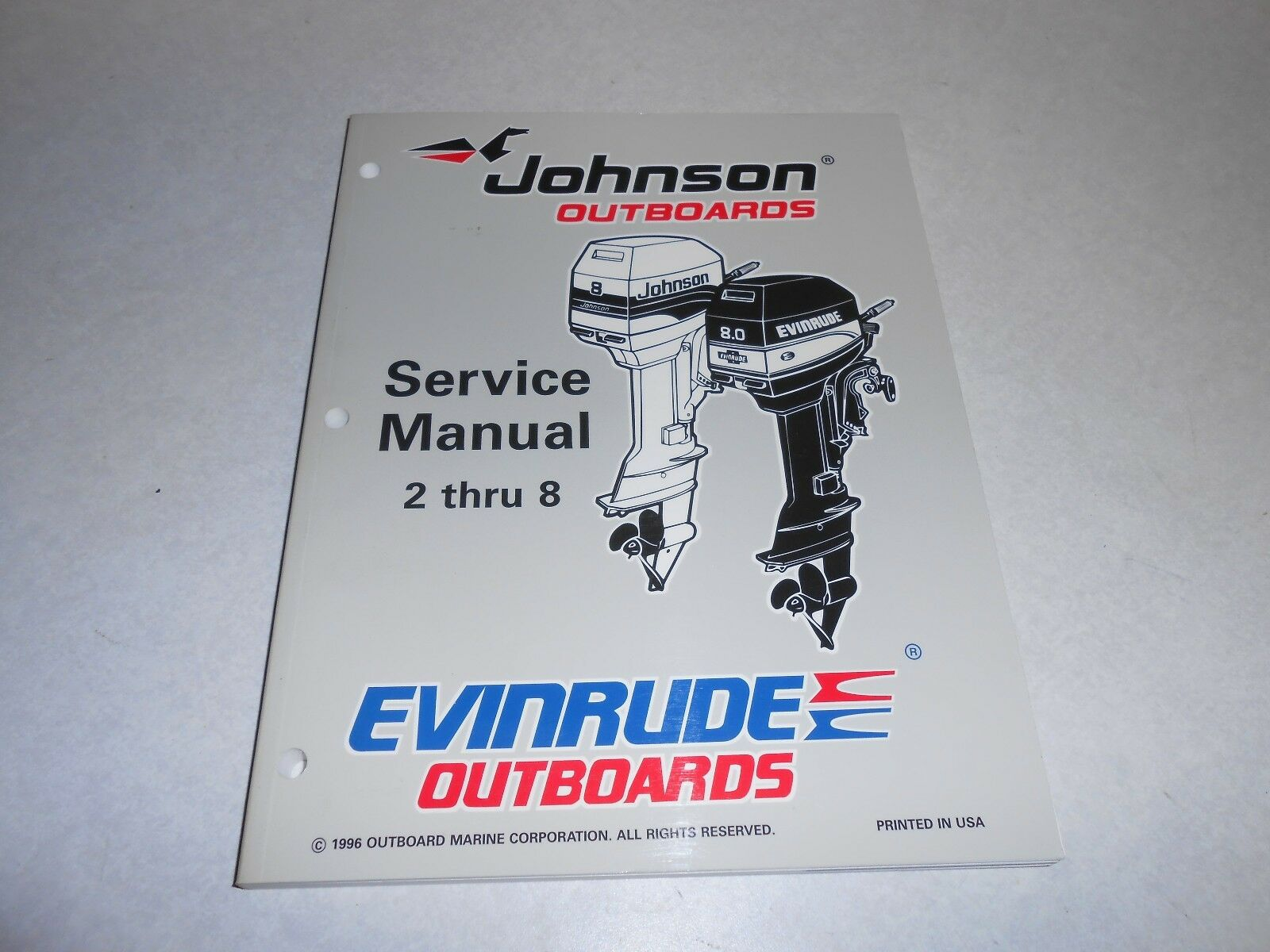 ... 8 hp GENUINE JOHNSON EVINRUDE Outboard Repair & Service 1 of 2Only 1  available ...
