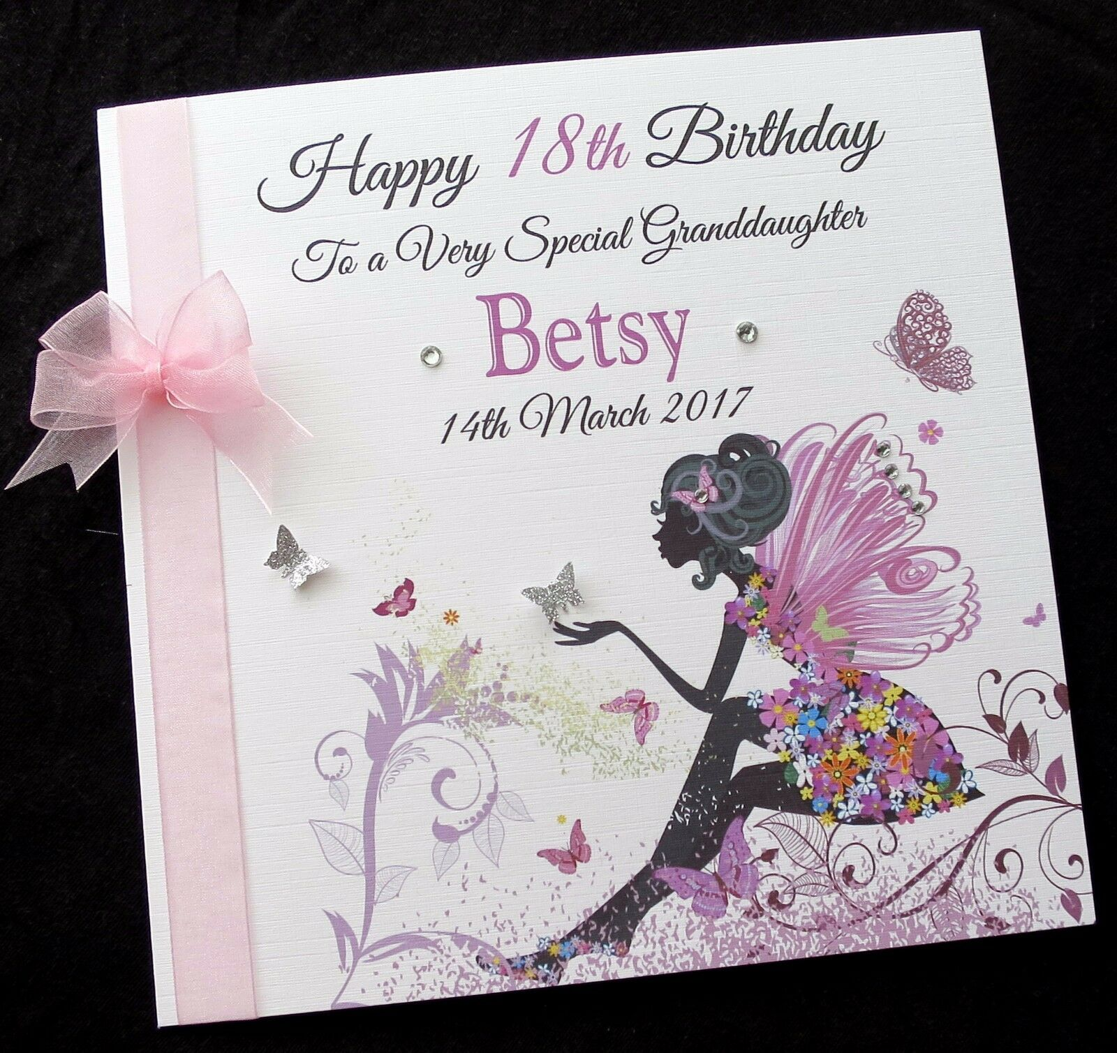 Personalised 8 FAIRY Birthday Card Daughter Granddaughter Niece Friend ANY AGE 1 Of 1FREE Shipping