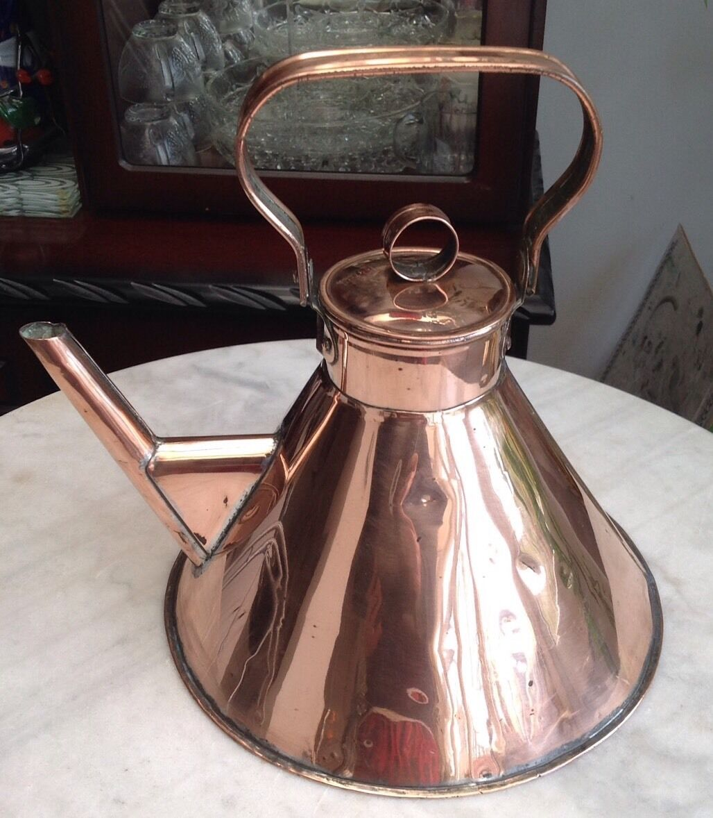 Large Unusual And Rare Christopher Dresser Style Copper