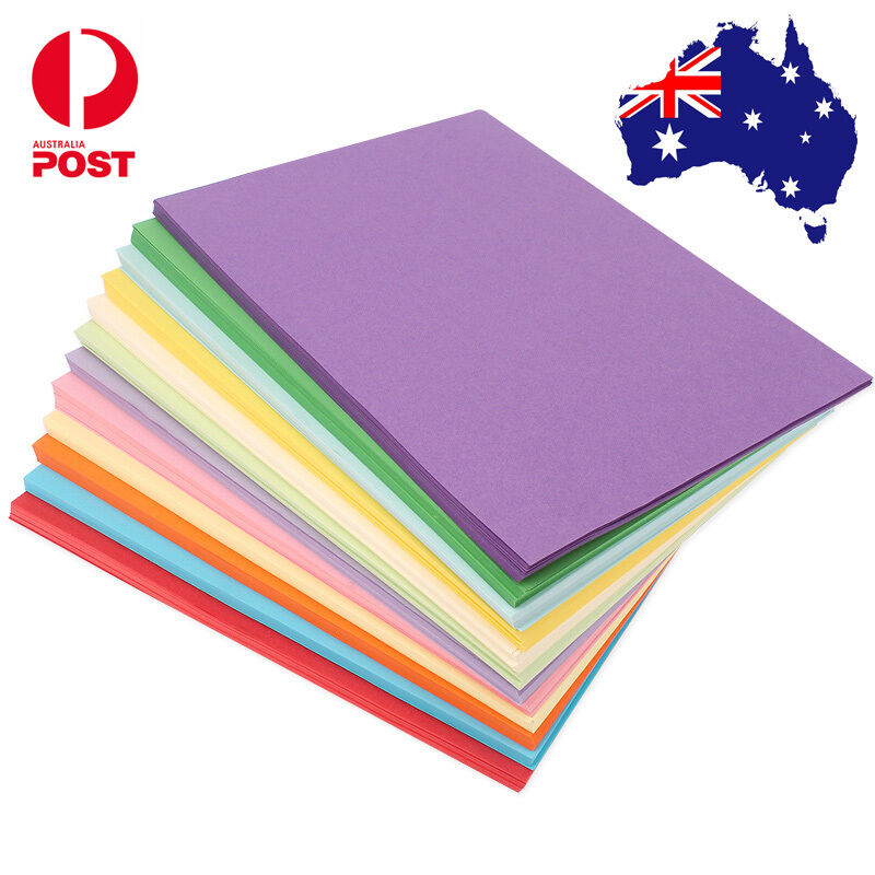 10 x 160gsm a4 coloured card cardboard diy craft paper for Colour paper craft