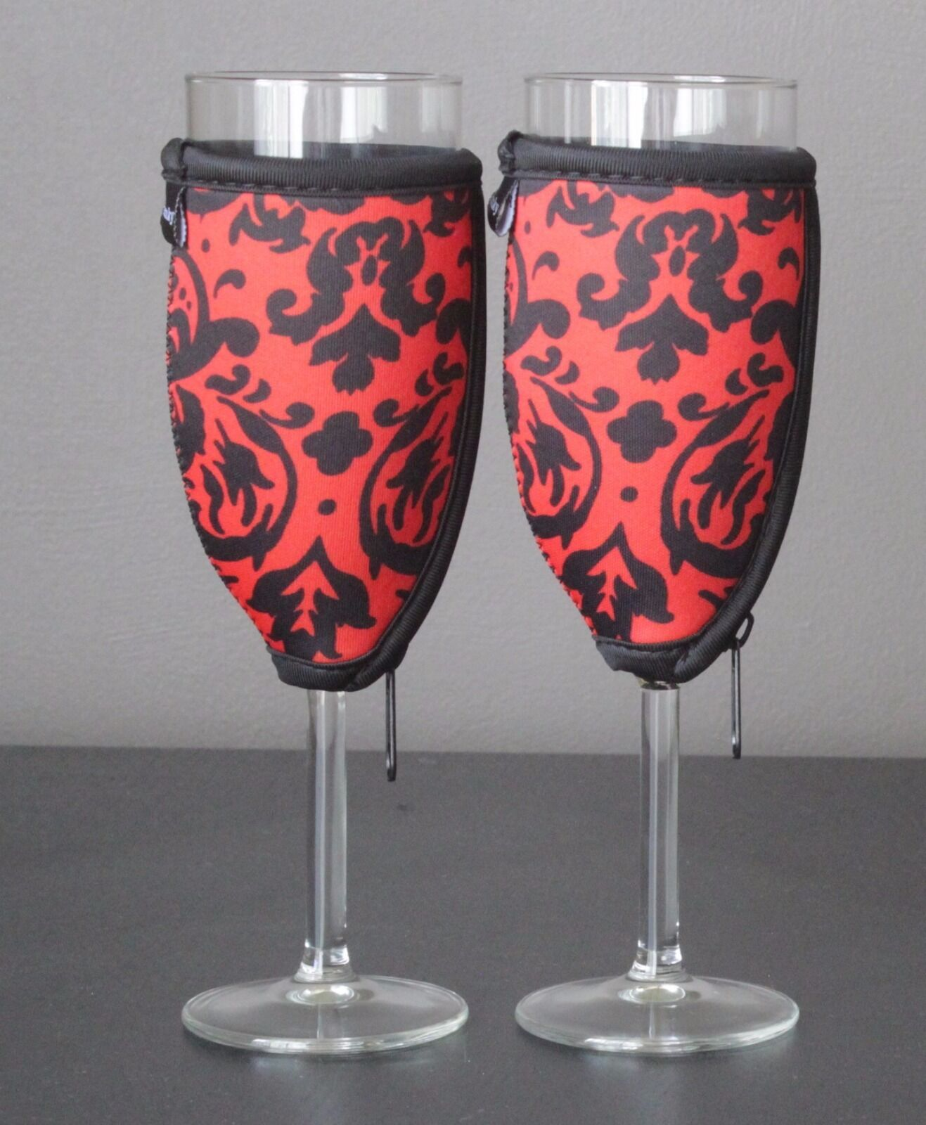 Vintage red champagne glass coolers x 2