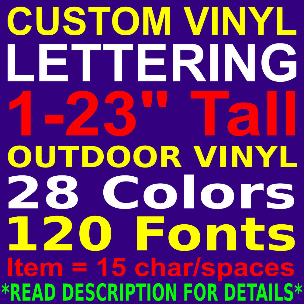 custom vinyl lettering personalized car truck window wall sign decal sticker 1 of 2