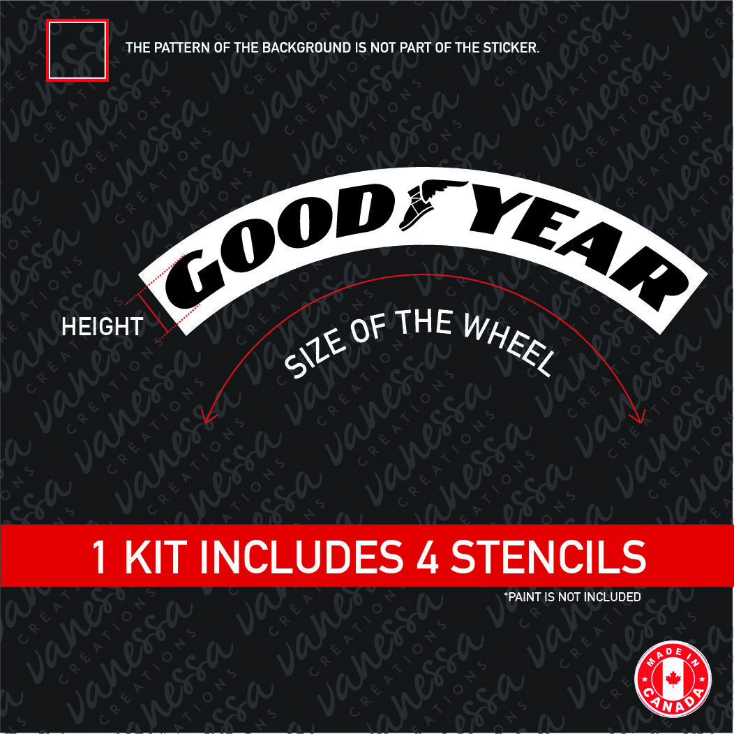 TIREBOMB TIRE STENCIL GOODYEAR STANCE RETRO STYLE *for paint* - $18.00 | PicClick