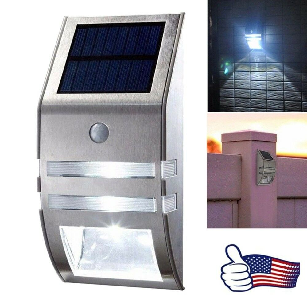 2 Led Solar Power Pir Motion Sensor Wall Light Outdoor Garden Lamp Powered With Waterproof Us 1 Of 7only Available