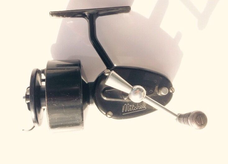 Old mitchell fishing reel 2nd version picclick uk for Old mitchell fishing reels