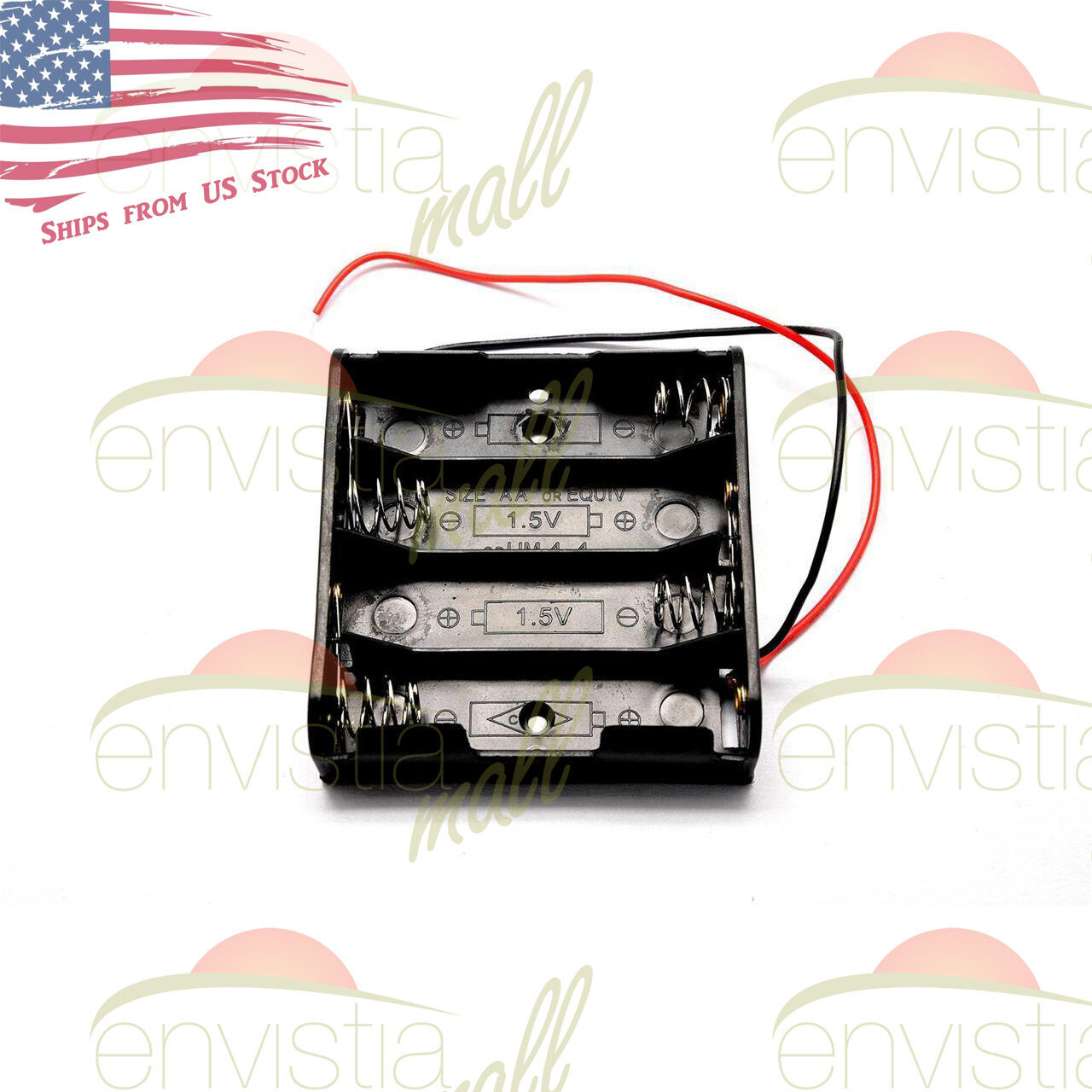 AA BATTERY HOLDER Case Box with Wire Leads for 4X Series AA ...