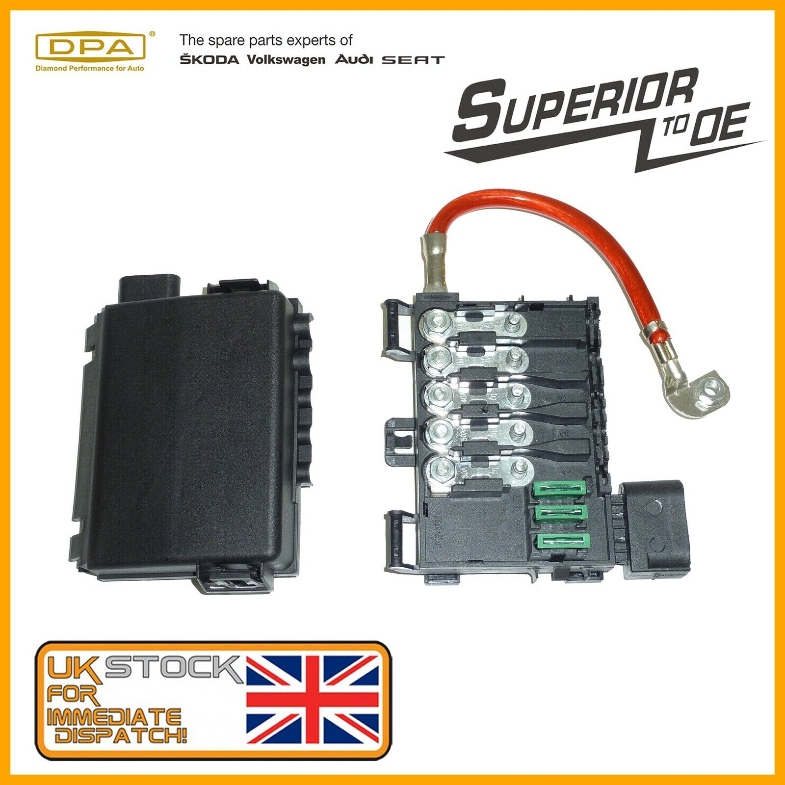 Vw Caddy Golf Audi A3 Seat Skoda Octavia 70ah Battery Fuse Box 1 Holder 1j0937617a Of 4only 3 Available See More