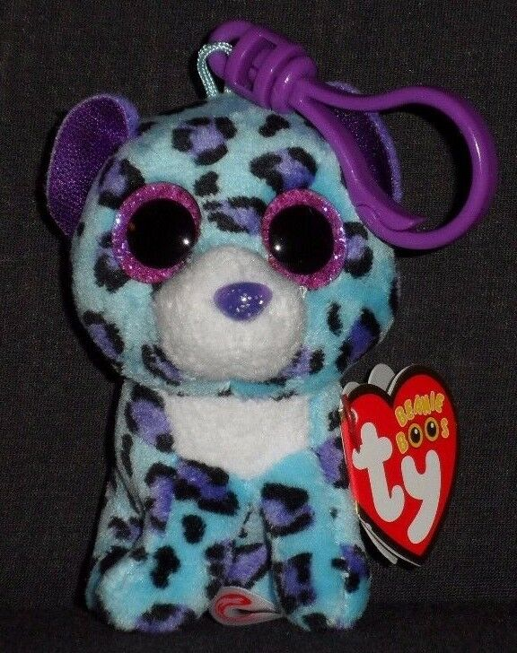 5d75bdfde6a TY BEANIE BOOS - LIZZIE the LEOPARD KEY CLIP - CLAIRE S EXCLUSIVE - MINT  TAGS 1 of 2 ...
