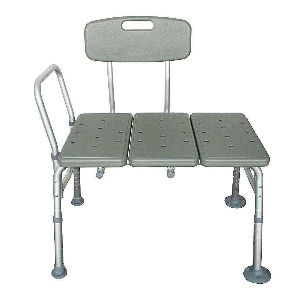 SHOWER CHAIR 10 Height Adjustable Bathtub Medical Shower Transfer ...
