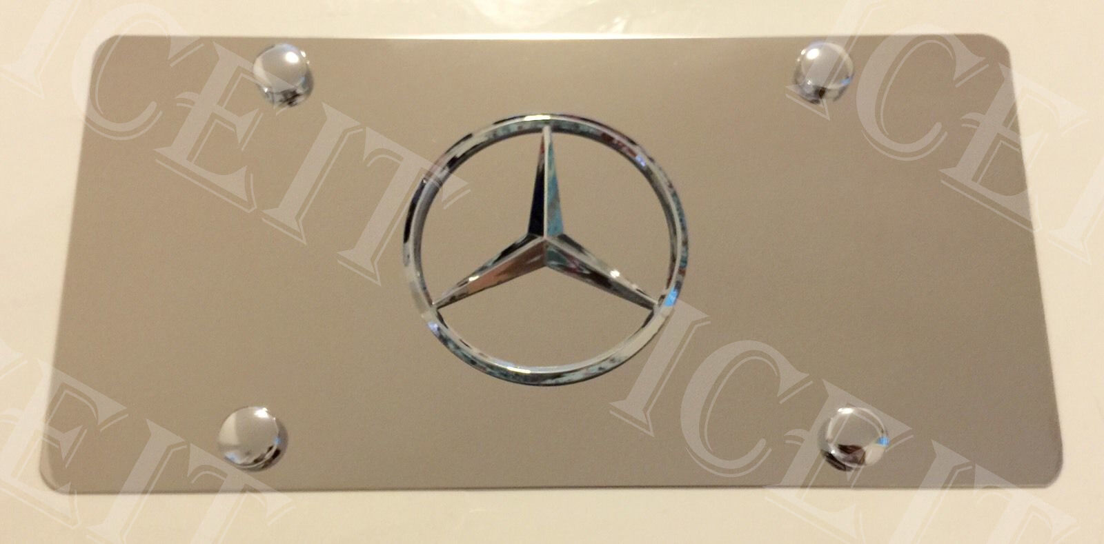 Mercedes Benz Front Mirror Vanity License Plate Stainless Steel Heavy Duty