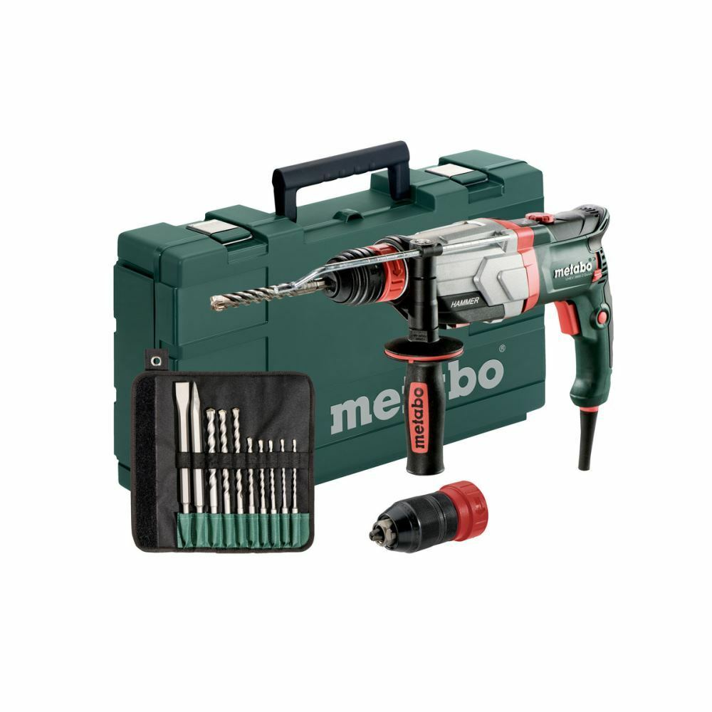 metabo sds multihammer uhev 2860 2 quick set bohrer mei elsatz 10 tlg eur 229 74. Black Bedroom Furniture Sets. Home Design Ideas