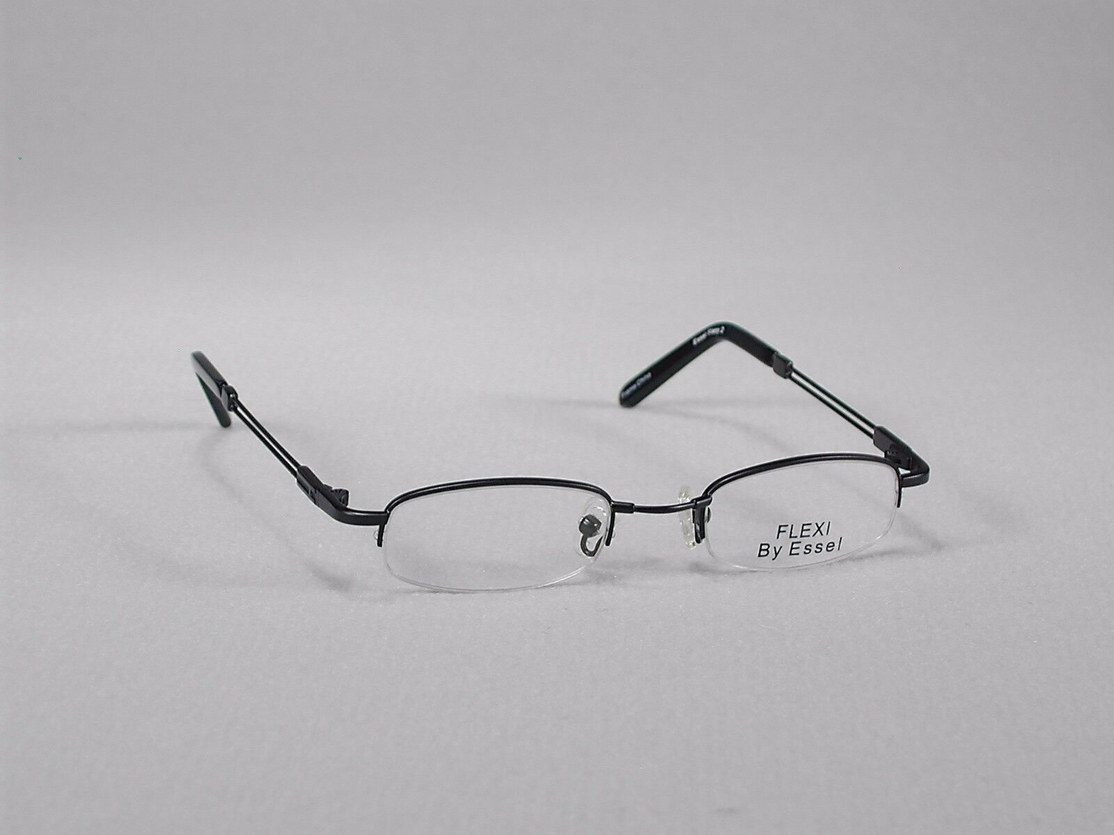 CHILDRENS EYEGLASS FRAMES Glasses Kid Brown Girls Boys Half-Rim Semi ...