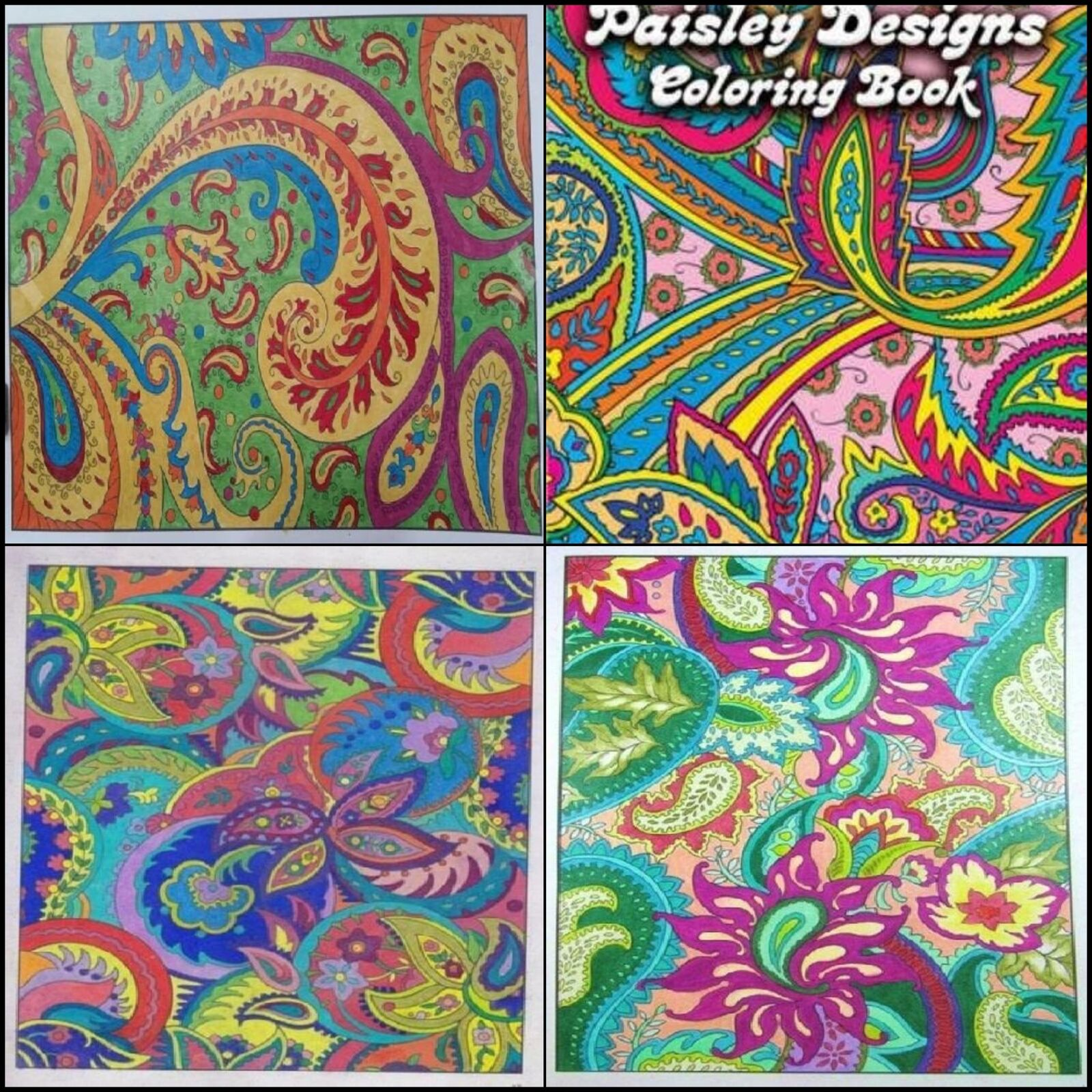 Paisley Designs Coloring Book Art Relaxation Adult Stress Relieving Patterns NEW 1 Of 8FREE Shipping
