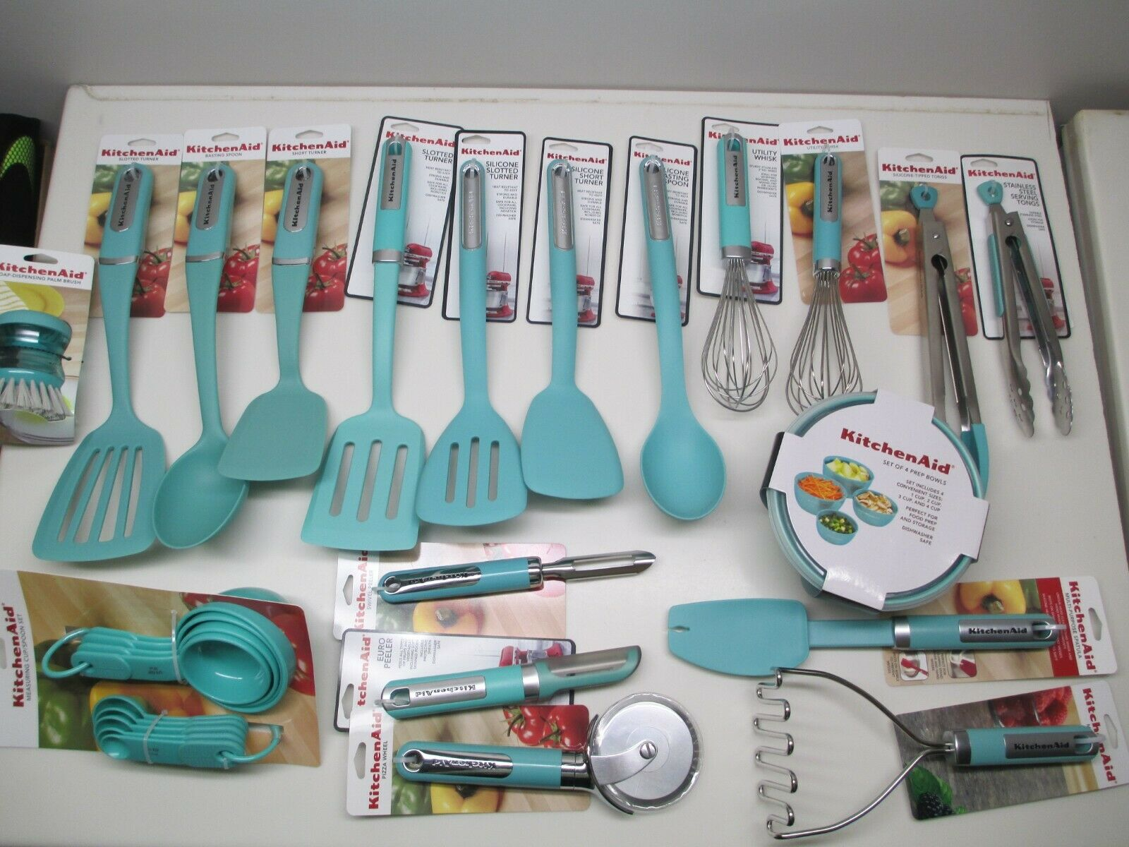 KITCHENAID KITCHEN UTENSILS and towels in aqua sky (HAQA) - $8.50 ...