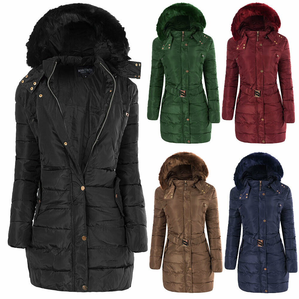 n546 damen winter mantel jacke steppjacke parka jacket daunen look winterjacke picclick de. Black Bedroom Furniture Sets. Home Design Ideas