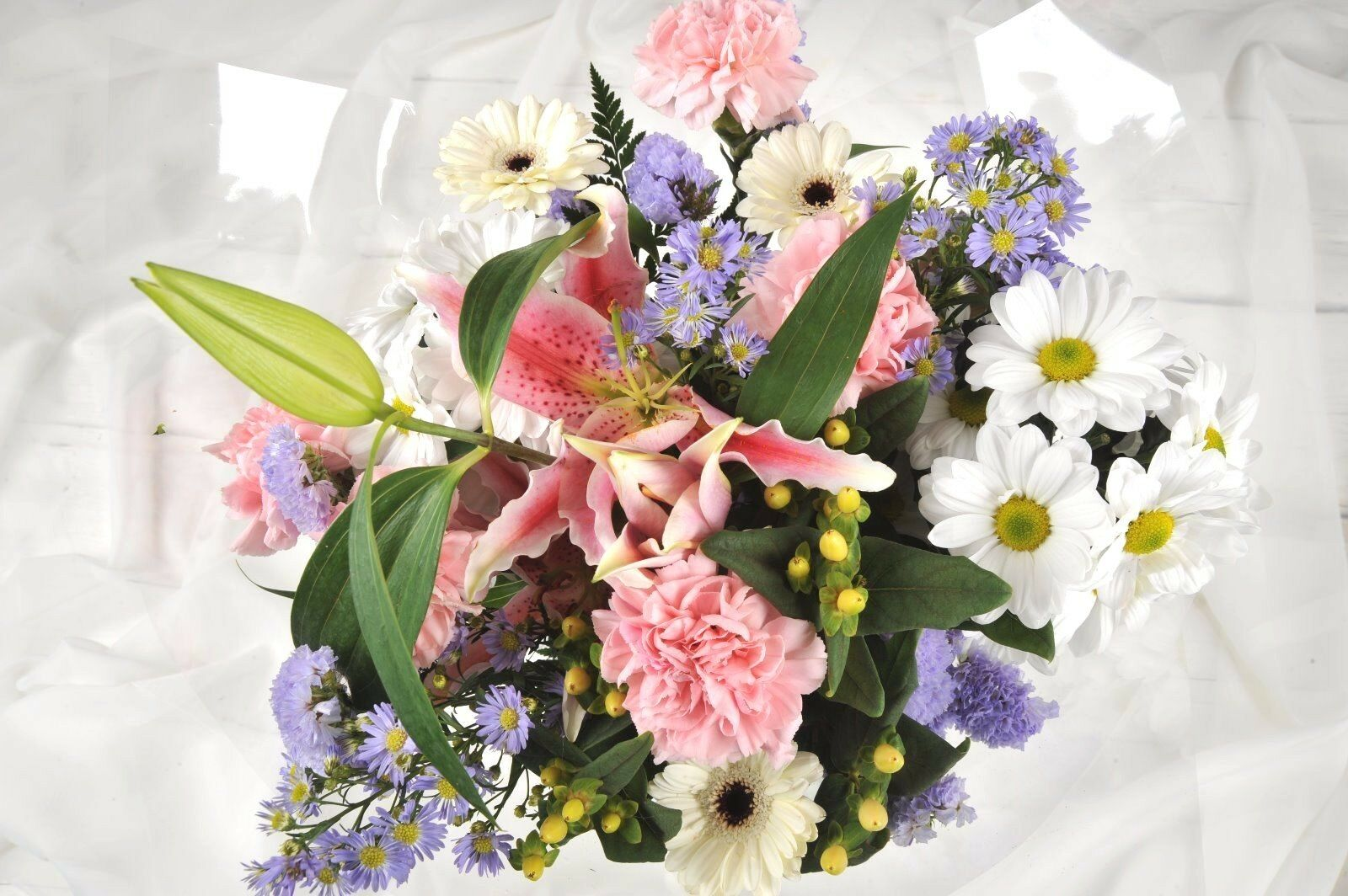 Fresh Real Birthday Flowers Delivered Pastel Mix Bouquet Free Uk