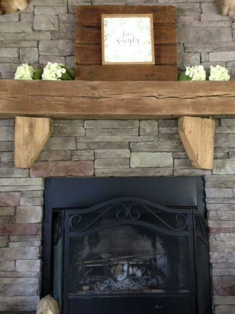 Corbels Mantel Wood Reclaimed Lumber Mantle Fireplace Hardwood Chic 1 Of 6only Available