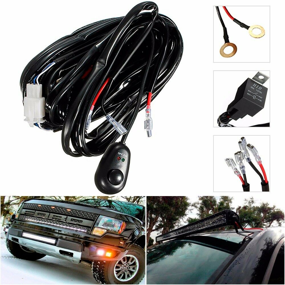 12V Universal Relay Wiring Harness w/Fuse and Switch HID Fog Light  Projector 1 of 9Only 2 available See More