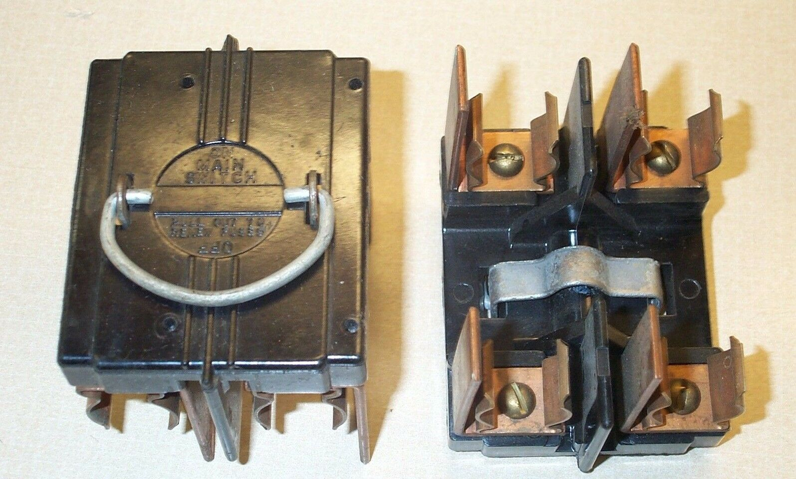 American 60 Amp Main Switch Fuse Panel Pull Out Fuse Holder Vintage Murray  Circuit Breaker Box Antique Murray Fuse Box