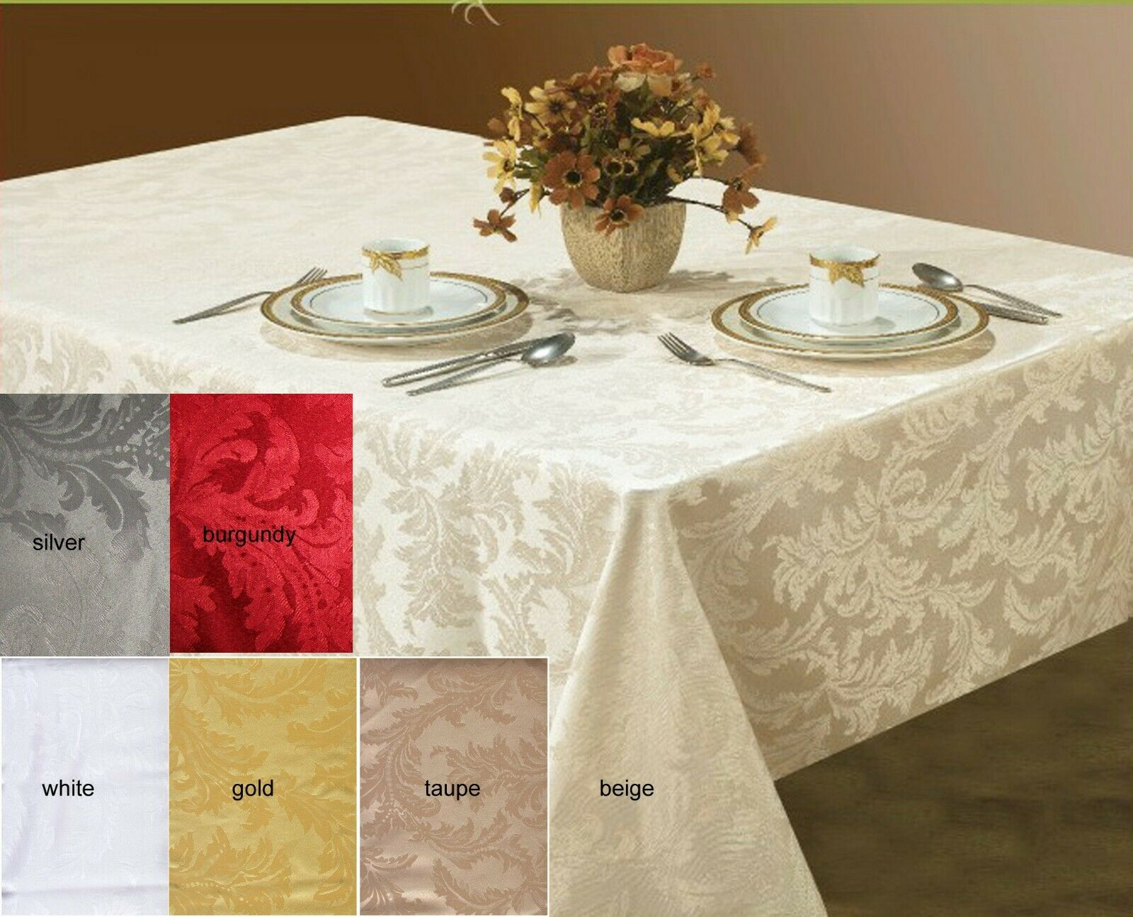 New High Quality Water Repellent U0026 Stain Resistant Tablecloths U0026 Napkins 5  Color 1 Of 6FREE Shipping See More