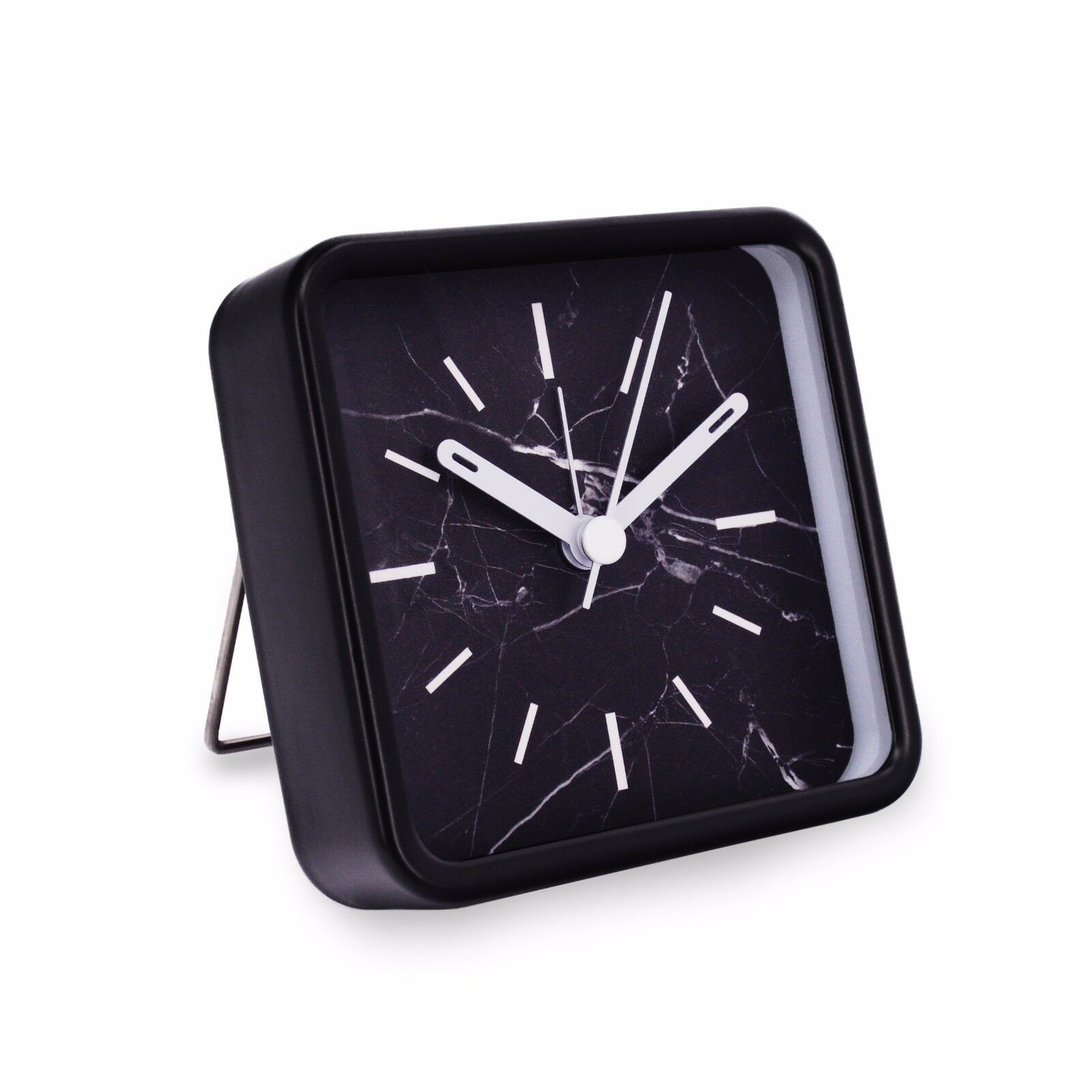 Small Modern Portable Marble Pattern Metal Quartz Desk Clock Battery Operated 1 Of 5free See More