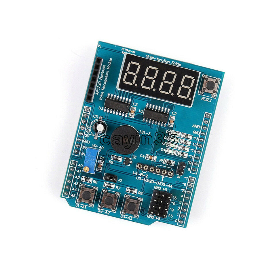 Multi Function Shield With Buzzer Lm35 4led For Arduino Uno R3 Cmd Atmega328 Ch340g Lenardo Mega2560 1 Of 4free Shipping See More
