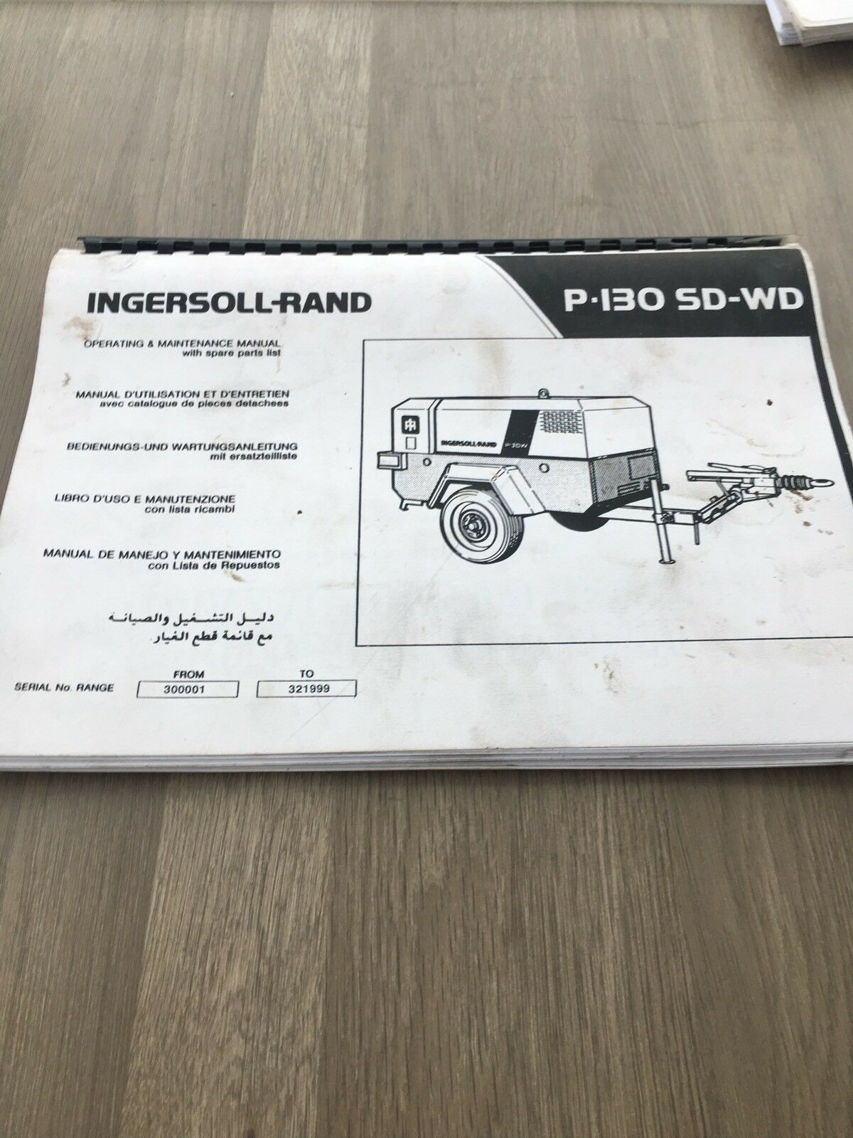 Ingersoll Rand P130Wd Deutz Air Compressor Operation Part & Maintenance  Manual 1 of 5Only 1 available ...