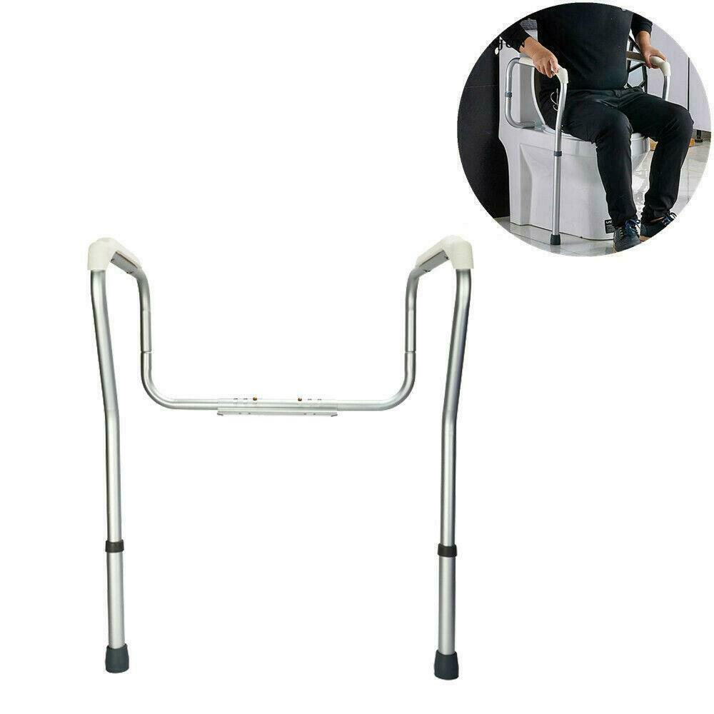 TOILET SUPPORT RAIL Grab Bars Adjustable Safety Handicap Assist ...