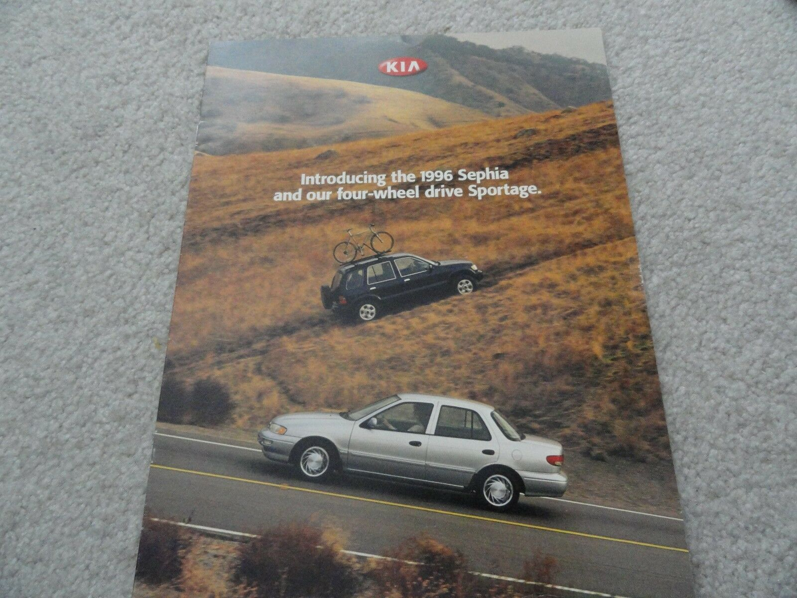 1996 Kia Sephia and Sportage Sales Brochure 1 of 1Only 1 available ...