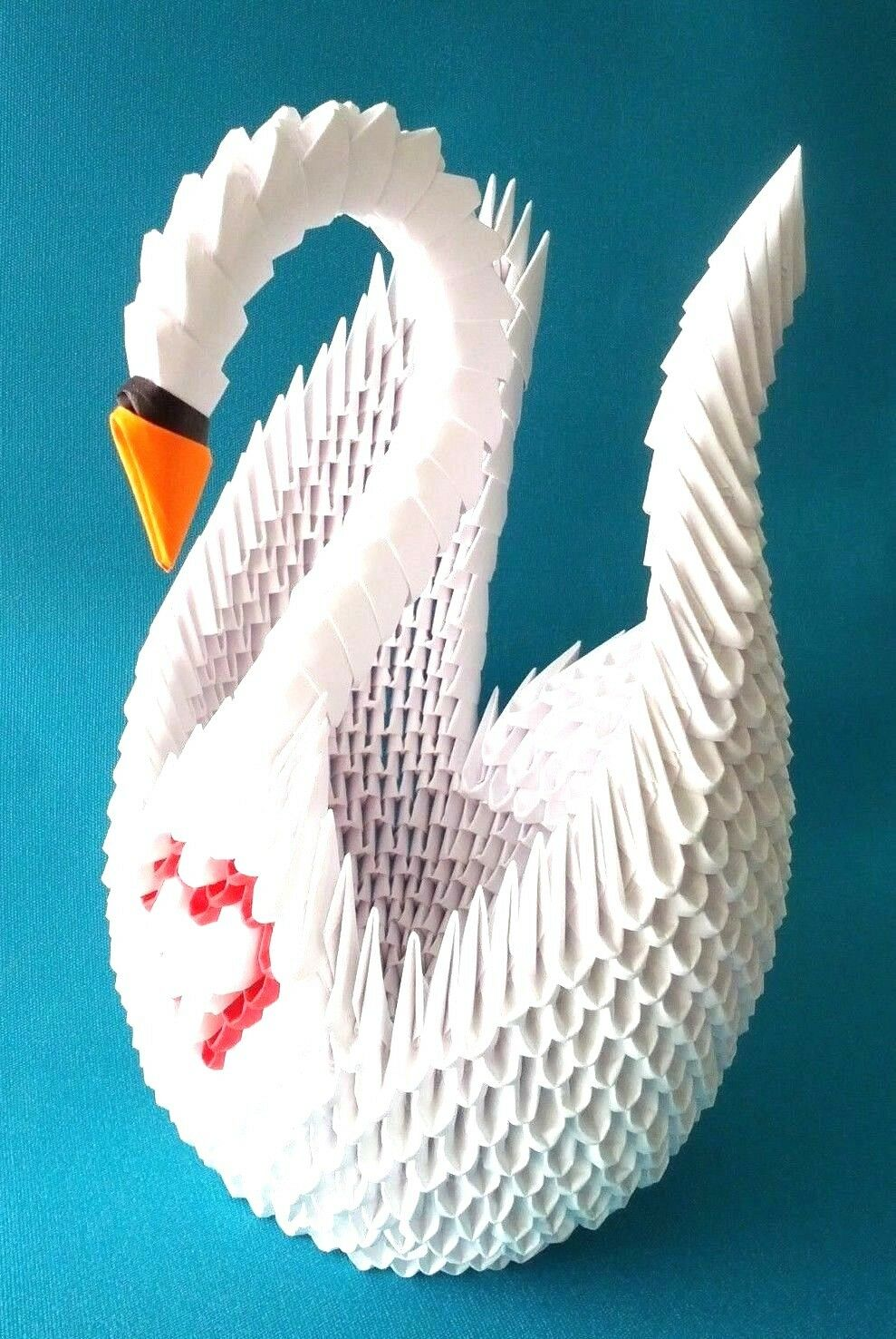 Extra Large Hand Made 3d Origami Swan Great For Wedding Bridal