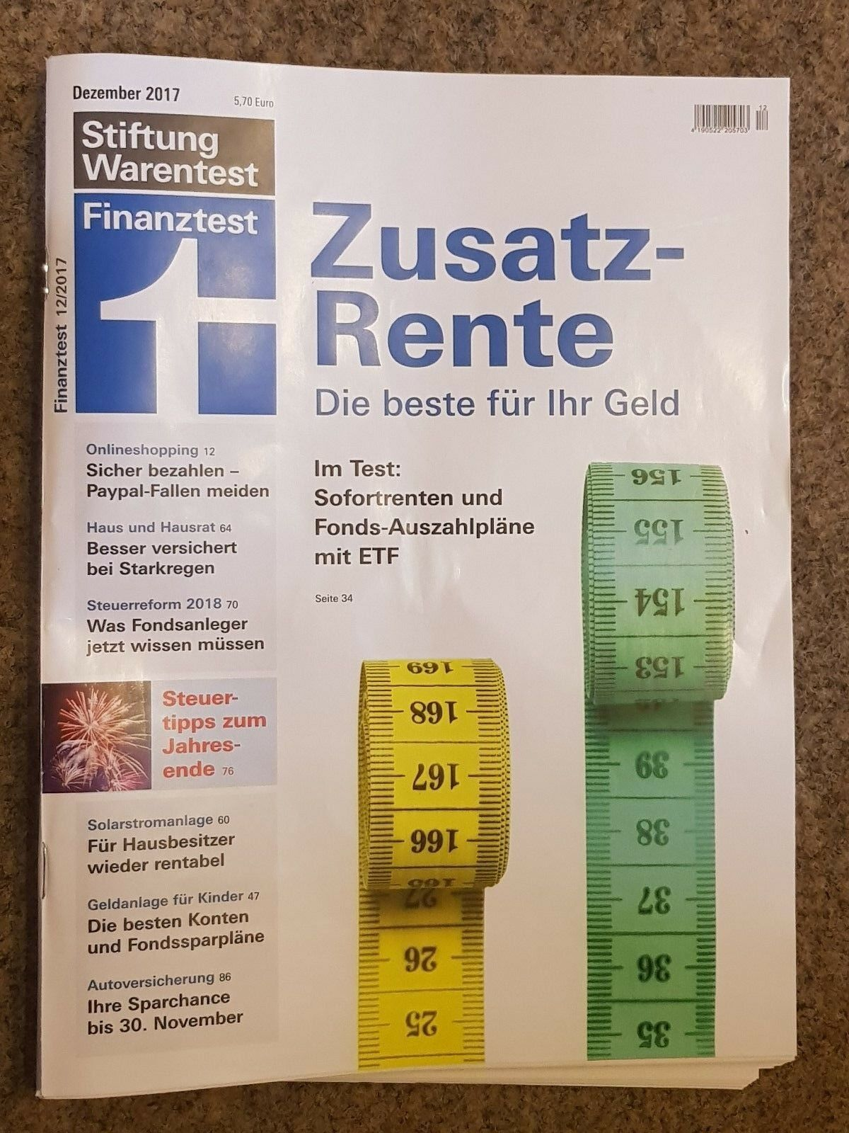 stiftung warentest test finanztest heft dezember 12 2017. Black Bedroom Furniture Sets. Home Design Ideas
