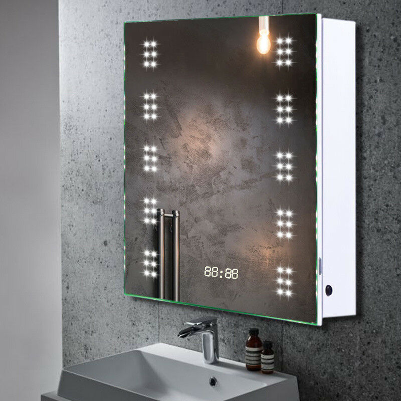Illuminated Mirrors Bathroom: ILLUMINATED 60 LED Bathroom Cabinet Mirror Sensor