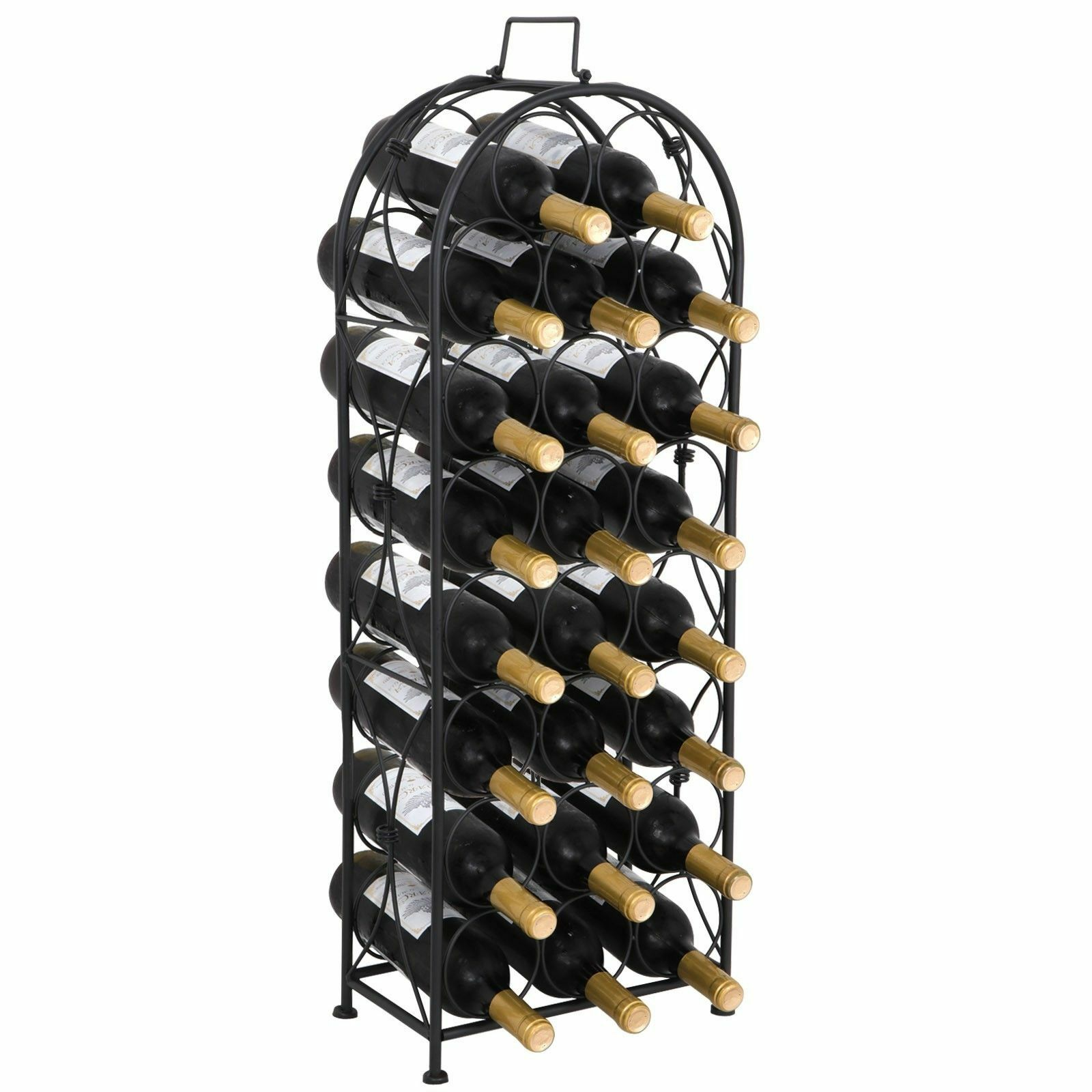 Metal Wine Rack Arched Holder For 23 Bottles Storage Freestanding 33 1 Of 10free Shipping